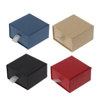 Wholesale kraft box bag for sale - Group buy Kraft Paper Drawer Jewelry Gift Box With Removable Cotton Pad Ring Display Box
