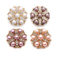 Wholesale w313 Flower 3D 18mm 25mm 30mm Metal Snap Button For Bracelet Necklace Interchangeable Jewelry Women Accessorie Findings
