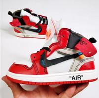 ingrosso scarpe da ginnastica alti-Designer Scarpe per bambini high top Scarpe sportive casual Ragazzi Ragazze Sneakers di marca Scarpe da corsa per bambini di alta qualità S2482