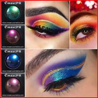 metalik toz toptan satış-Cmaadu Tek Renk Preslenmiş Göz Farı Pudra Maquillage Glitter Göz Farı Makyaj Paleti Glitter Su Geçirmez Metalik Göz Farı Pırıltılı