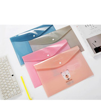 Wholesale a4 paper storage bags for sale - Group buy 1pcs Trend Pencil Case PVC Document file bag A4 office bill storage student test paper clip creative stationery School Supplies