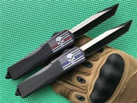 Wholesale red handled knife sets for sale - Group buy Red Blue Line Punisher KIMTER Custom Large D A Tactical knife Black C Blade Zinc aluminum Handle Camping survival Tool P890M R
