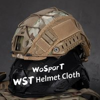 Wholesale fast helmet for resale online - Tactical Helmet Cloth Nylon Mesh Helmet Cover Cloth Paintball Patch Hunting Gear Outdoor Sports For Fast