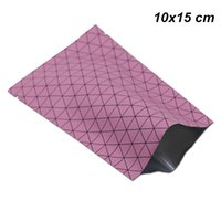 Wholesale fruit package design for sale - Group buy 10x15 cm Pink Pure Aluminum Foil Vacuum Heat Sealable Packaging Bag for Dried Fruits Nuts Grid Design Open Top Mylar Heat Seal Packing Pouch