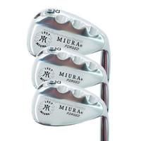 geschmiedete golfkeile großhandel-Neue Golfschläger Miura K-Grind 1957 FORGED Golf Wedges 52 56 60 Project X 6.0 Stahl Golfschaft Wedges Clubs Kostenloser Versand