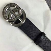 hochwertige gürtel großhandel-2019 Hochwertige Designer Business Taillenbänder importieren echtes Leder Mode Big Huf Schuhe Herrenriemen Gürtel mit Box