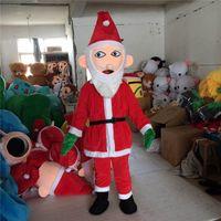 traje de fantasia traje de mascote venda por atacado-Papai Noel Traje Da Mascote Fancy party Christmas Day Dress