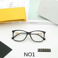 ingrosso occhiali da sole di qualità ottica di alta moda-Occhiali di design Occhiali da sole di lusso Occhiali da vista per miopia ottica per donna Vetro perlato Marca C8220 4 colori di alta qualità con scatola