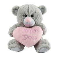 ich teddy großhandel-großhandel freies dropshipping 30cm teddybär mit ich liebe dich herz gefüllte tier huggable weichem plüsch spielzeug geschenk für freundin frau