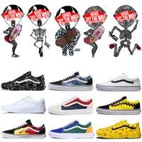 paten ayakkabıları satışları toptan satış-vans Moda minibüsler eski skool erkekler kadınlar için tanrı korkusu Sıcak satış tüm beyaz siyah tuval sneakers paten rahat ayakkabılar