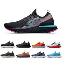şampiyon ayakkabıları toptan satış-Nike epic react shoes  Şampiyonu Koşu Ayakkabıları Gerçek Olmak Tepki Olabilir Bakır Flaş Zeytin güney Plaj Mowabb Erkekler Kadınlar Açık eğitmenler Atheltic Spor Sneaker