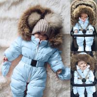 kışlık ceketler unisex parkas toptan satış-ARLONEET Bebek Sonbahar ve kış artı kadife sıcak kalın parkas Ceket Erkek Bebek Kız Kapşonlu Kat Kabanlar CS19 MX191030