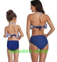 ingrosso bambini che indossano bikini-Top ragazzi delle 2020 di divisione popolare delle donne dello swimwear waisted bikini con ruches bambino genitore usura Swim Bikini yakuda elegante sexy flessibile
