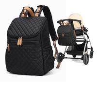 mochilas para pañales al por mayor-Multifunción bolsa de pañales mochila de gran capacidad mochila cómoda jefe diseñador con estilo correas de la mochila de viaje y Organizador