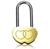 Wholesale solid gold china for sale - Group buy Lover Lock Lovers Use Keepsake Golden Solid Like Creative Idea Heart Shaped Copper Product Concentric Kocks Manufactor Direct Selling4 tnP1