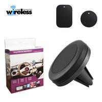 telefon auto magnethalter großhandel-Kfz-Handyhalter Magnet Air Vent Mount Mobile Smartphone Ständer Magnet Unterstützung Zelle in Auto GPS für iPhone XS Max Samsung