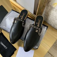 Wholesale concrete pump resale online - Ladies Pointed Toe Pump Chunky Heels Mules Embroidery Slippers Casual Shoes Women Shoes Plus Size X02 ICBY