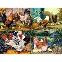 Wholesale paintings animals scenery for sale - Group buy 5D DIY Diamond Painting Animal chicken scenery Diamond Embroidery Mosaic Rhinestone Full Drill Cross Stitch Home Decor Gifts