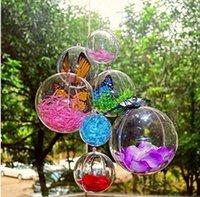 ingrosso ornamenti diy crafts-8 CM trasparente palle di plastica Bath Bomb Mould Set Craft Ornamenti di plastica Natale Hollow Ball Fillable DIY Bath Bombs Ornamento Decorazione di cerimonia nuziale