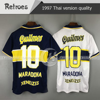 Wholesale camiseta futbol retro for sale - Group buy 0 Maradona Boca Juniors Retro Soccer Jersey ROMAN RIQUELME PALERMO Football Shirts Maillot Camiseta de Futbol