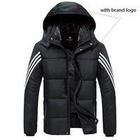 xxl peluş toptan satış-Ağır Ceket Siyah Peluş Astar içinde Yumuşak Işık Sıcak Windproof Dış Giyim Temizle Logo D09 ile Kaliteli Havalandırmak