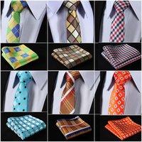 gemusterte paisley-blumenbindung groihandel-Woven Männer Tie Krawatte Einstecktuch # T5 HISDERN Mix Blumenmuster-Partei-Hochzeit 2,17
