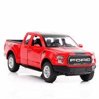 ingrosso automobili del capretto ford-1/32 Diecast Model Car Nuova Ford Raptor metallo della lega di alta simulazione Auto Luci Giocattoli veicoli per i regali dei capretti Per
