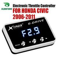 carreras de partes honda al por mayor-Coche electrónico del acelerador Controlador de Racing acelerador Booster potente para HONDA CIVIC 2006 2007 2008 2009 2010 2011 Partes y repuestos accesorios