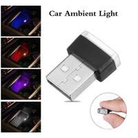 USB 5 Colors LED Mini Light Car Interior Wireless Atmosphere Light Mini Gifts Lighting Kit Atmosphere Interior Light Car Styling Decorations