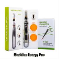 ferramentas a laser venda por atacado-A acupuntura caneta eletrônica Meridianos elétrica Laser Therapy Cura Ferramentas Pen Energia Massagem Pen Meridian alívio da dor DHL