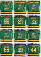 Wholesale The Mighty Ducks Moive Jersey Charlie Conway Adam Banks Bombay Greg Goldberg Reed Dean Portman Stitched Hockey Jerseys