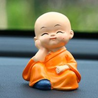 Wholesale resin seats for sale - Group buy Cute KungFu Monk Car Interior Display Decoration Car Seat Ornament Home Decor Resin Kid Doll Holiday Gift