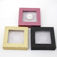 precio de las pestañas 3d al por mayor-Precio al por mayor Pestañas postizas Caja de embalaje Logotipo personalizado Falso 3D Pestañas de visón Cajas Tira Caja cuadrada Vacío