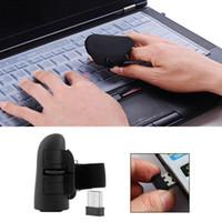 ingrosso mouse mouse dito ottico-Mouse ottico senza fili USB universale da 2,4 GHz 1600 DPI per tutti i computer portatili Tablet PC desktop Mini Thumb mouse wireless