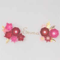 Wholesale birthday paper diy resale online - Cardstock Mix Fleur DIY Paper Flowers Rose Name Sign Kit For Nursery Wall Deco Baby Shower Girls Room Birthday Backdrop