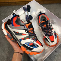 Wholesale tracking shoe resale online - Sport Running Luxury Designer Track Sneakers Tess Paris Men Gomma Maille Black Low Track M Triple S Casual Shoes Outdoor Chaussures