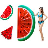 ringbojen aufblasbar großhandel-Wassermelone Aufblasbare Pool Float Schwimmring Für Erwachsene Frauen Riesen Schwimmen Float Luftmatratze Boje Strand Spielzeug Spaß Dropship