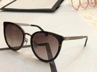 metal çerçeveler takılar toptan satış-Yeni Moda Tasarımcısı Güneş Gözlüğü 0077 metal çerçeve bayan popüler kedi göz gözlük en kaliteli büyüleyici tarzı UV400 marka gözlük Paketi ile