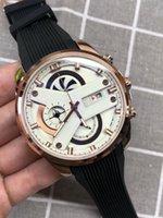 agulha de relógio de quartzo venda por atacado-Relógio dos homens relógio esportivo dos homens de seis agulhas de segundos correndo multi-função relógio de quartzo dos homens casuais relógio militar à prova d 'água relogio mascul