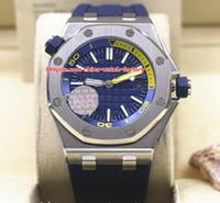 taucher luxus uhr datum großhandel-5 Stil Luxus Hohe Qualität N8 Fabrik 42mm Offshore Taucher 15703 15710 15710ST.OO.A038CA.01 Asien Mechanische Automatische Herrenuhr Uhren