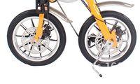vorderes scheibenrad großhandel-14 Zoll Aluminiumrad für Elektroroller Faltrad MTB Vorderrad / Hinterradnabenumbau Teile DISC / Trommelbremse