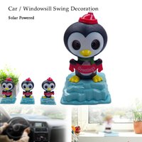 Wholesale swings for home resale online - Solar Powered Kids Toy Home Car Desk Dancing Swinging penguin Decoration Toys Child Mini Plastic Cute Educational Toys for child