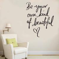 ingrosso autoadesivi della parete del vinile di bellezza-Beauty Nail Salon Decorazioni per la casa Decalcomania della passione Adesivo in vinile Inspire Girls Be Beautiful Quote Stickers murali per camera da letto Bagno