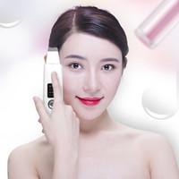 rímel de beleza mágica venda por atacado-USB ultra-sônica do purificador da pele Limpeza Profunda Facial Rosto Peeling Cleanser Blackhead Acne remoção beleza Instrumento Máquina de Limpeza Facial