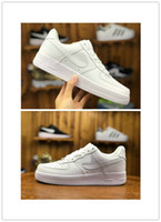 ingrosso una scarpa da donna sportiva-2019 New Forces Mens Womens Low Cut One 1 Scarpe All White Black Dunk Forced 1s Scarpe sportive Classic AF Fly Sneaker Sneakers alte