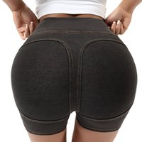 Wholesale sexy tight yoga pants resale online - 2020 Yoga Shorts Female Sexy Gao Waist Hips Tight Pants Professional Sports Cowboy Peach Shorts