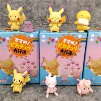 pvc blinds großhandel-Action-Figur Pikachu-Puppe spielt 3.5cm PVC Q Version Twist Egg Action-Figur Puppe Blind Box Nette kleine Geschenk-Dekoration Anzeige