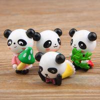 Wholesale giant pandas toys for sale - Zakka Giant Panda Playful Version Model PVC Action Figures Toys DIY Micro Landscape Decoration Toys Model Christmas Gift kids toys