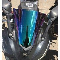 pára-brisa azul para motocicleta venda por atacado-Pára-brisas de motocicleta Tela pára-brisas para 2014 2015 2016 2017 2018 Yamaha YZF-R25 R25 YZF 250 YZF-R3 R3 320 Iridium fumo azul