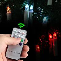 ev tipi pil ampulleri toptan satış-Yeni Tasarım LED Mum RGB Işık Ampul Pil Uzaktan Controlcoration Mumlu Düğün Noel Partisi Ev Ağacı Dekoru İşletilen